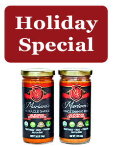 Mariam's Miracle Sauce plus Mariam's Miracle Seasoning Blend